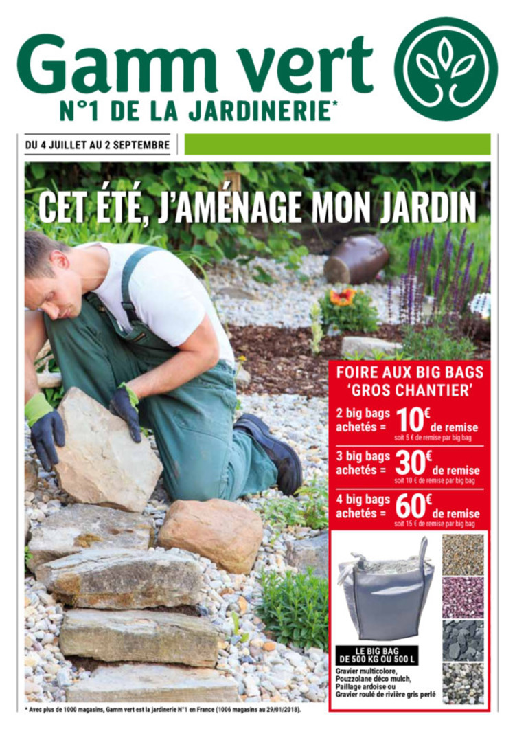 Catalogue Gamm Vert à Redon : promos et horaires